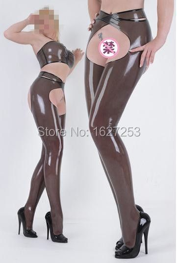 100% Pure Rubber Latex Chaps Rubber Chaps Latex Leggings Women Sexy Rubber Leggings Open Hips