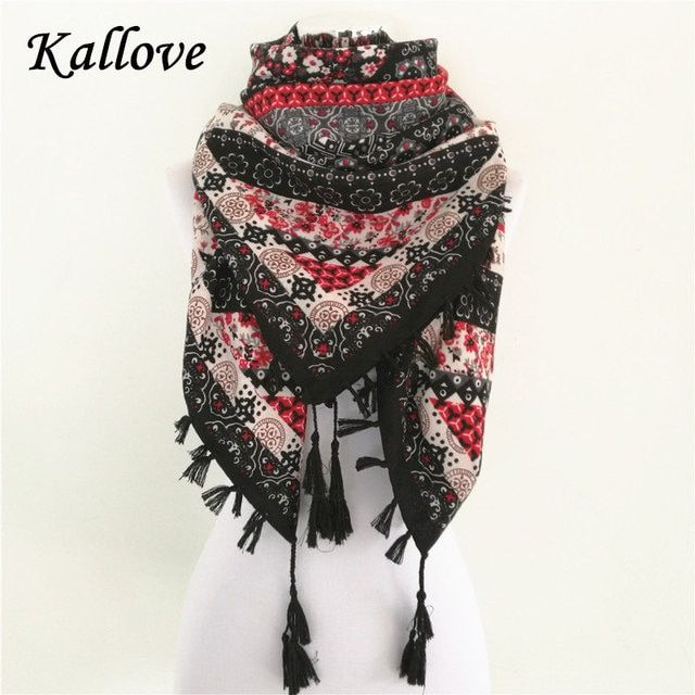 Hot sale bandana new fashion woman Scarf square scarves Printed Women Wraps Winter autumn ladies shawl Luxury Brand tassel scarf