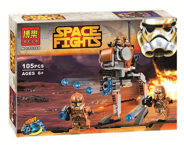 Toys for children CHINA BRAND 10368 self-locking bricks Compatible with Lego 75089 Star Wars Geonosis Troopers