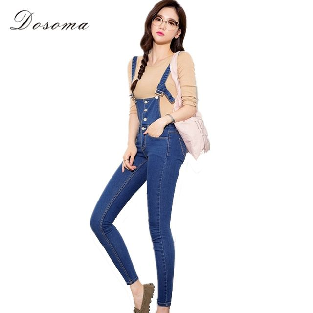 denim jumpsuit women skinny pant 2016 korean style sexy girls denim jumpsuit fashion jeans pencil pants women vintage jumpsuit