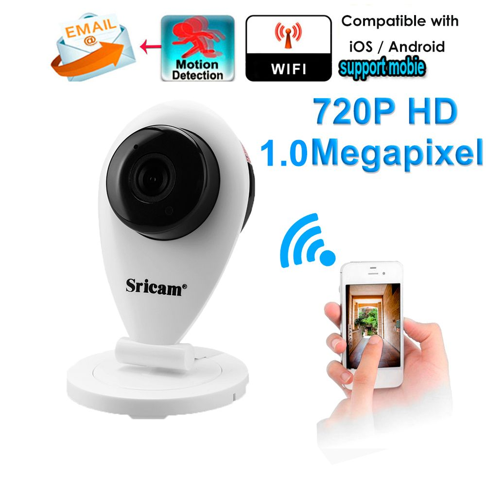 Sricam SP009 720P HD Wifi H.264 1.0MP IP Camera Wi-fi Wireless Surveillance Security Camera Infrared Camera CCTV Without IR Cut