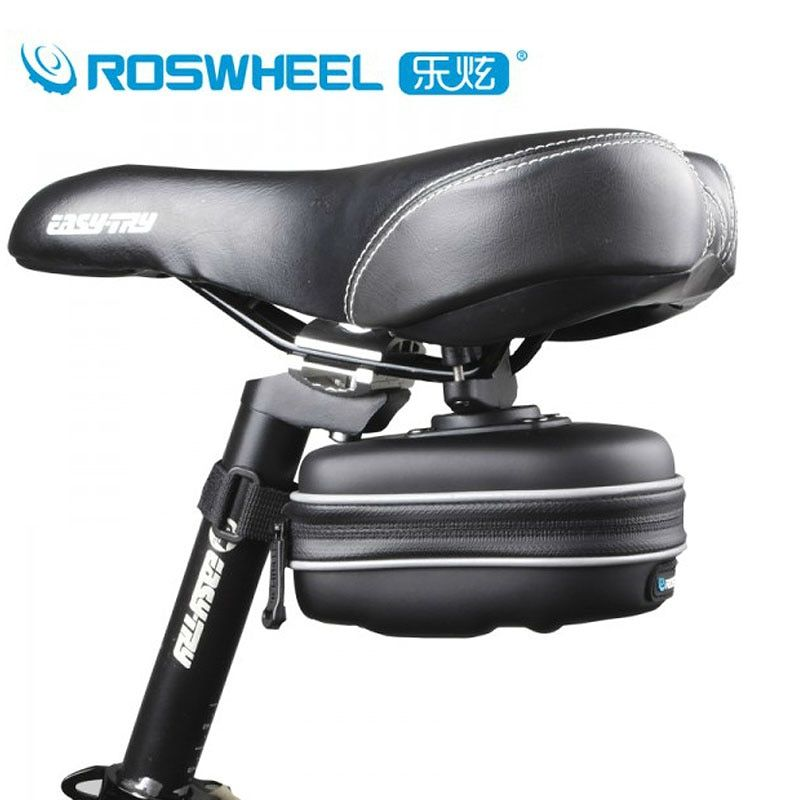 ROSWHEEL Bicycle Saddle Bag Seat Post Storage Tail Pouch Cycling  Road Bike Rear Pannier Bycicle Bolsa bisiklet aksesuar 13875