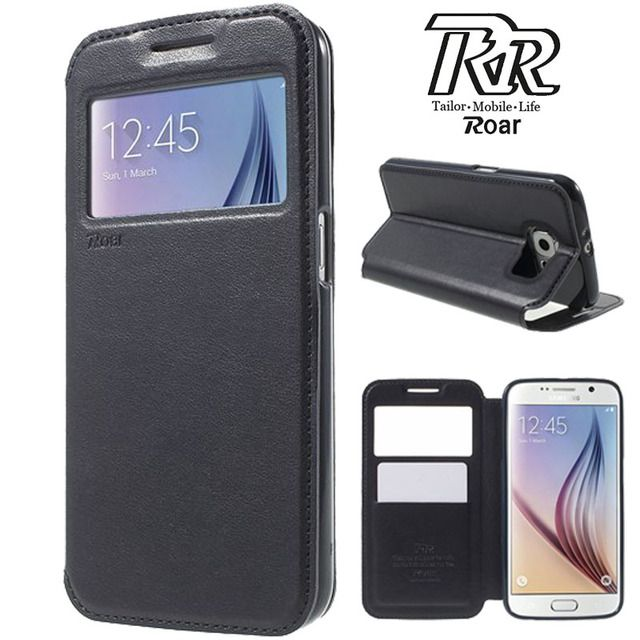 For Samsung Galaxy S6 Case ROAR KOREA Noble Window View Wallet Flip Leather Phone Cover For Samsung S6 G920 with Retail Package