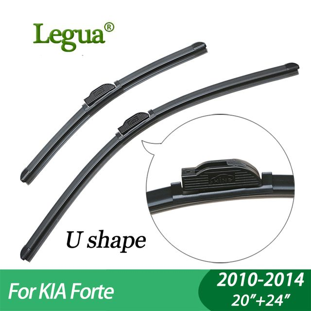 "Legua Wiper blades for KIA Forte (2010-2014),20""+24"",car wiper,Boneless, windscreen wiper, Car accessory"