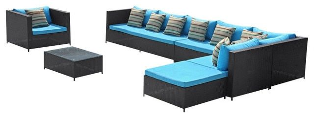 2017 Sigma All Weather Resin Rattan apartment furniture sectional corner sofa set