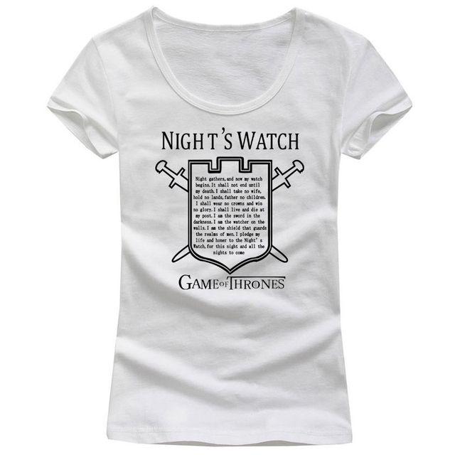 Game Of Thrones Women T Shirts O Neck Short Sleeve Leisure New Style Fashion Female Tee Shirt Scoop Neck Pattern Wholesale