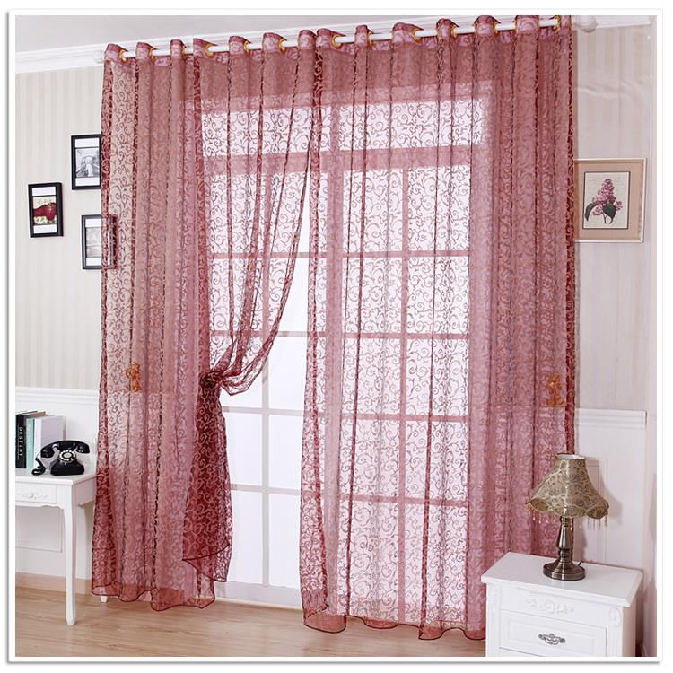 NAPEARL Fashion quality finished window screening living room sheer curtain tulle curtains