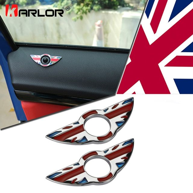 2pcs/set for mini cooper interior window pin protect accessories Zinc Alloy sticker for mini countryman paceman R60 R61
