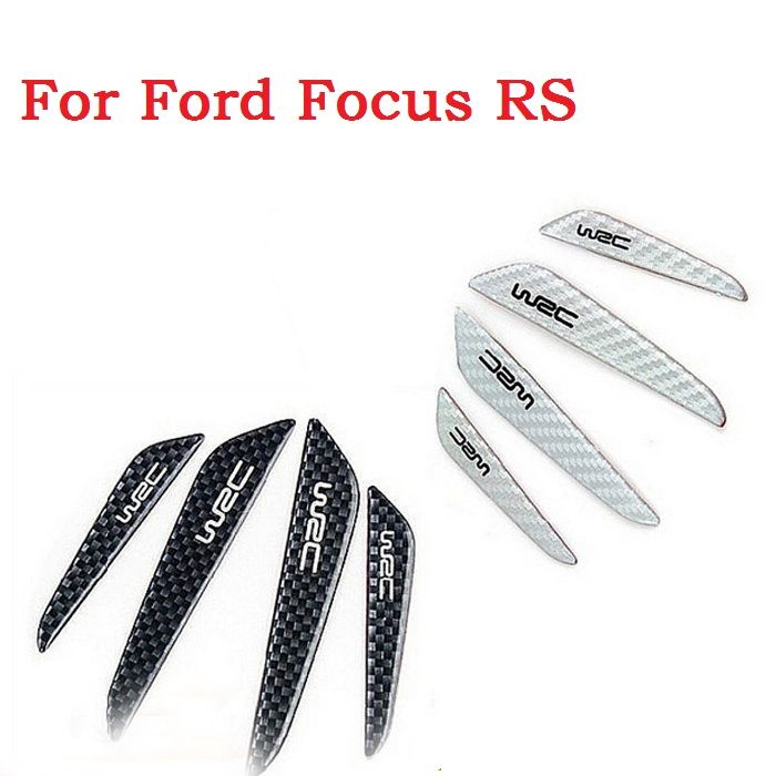 New Car style carbon fiber Car Door Decoration Strip General Car Crash Bar Anti-Rub Bumper Protection for ford Focus RS