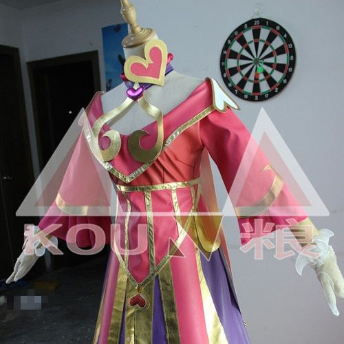 Free Shipping LOL Sweetheart Sona Cosplay Costume Halloween Uniform Outfit Luxury Dress Custom-made