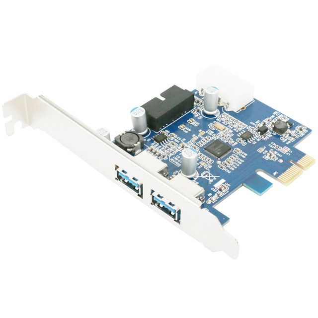 PCI Express 2.0 PCI-E to USB 3.0 Hub PC Card Adapter 5.0Gbps 19 pin Add On Card For Windows XP 7 8 K632