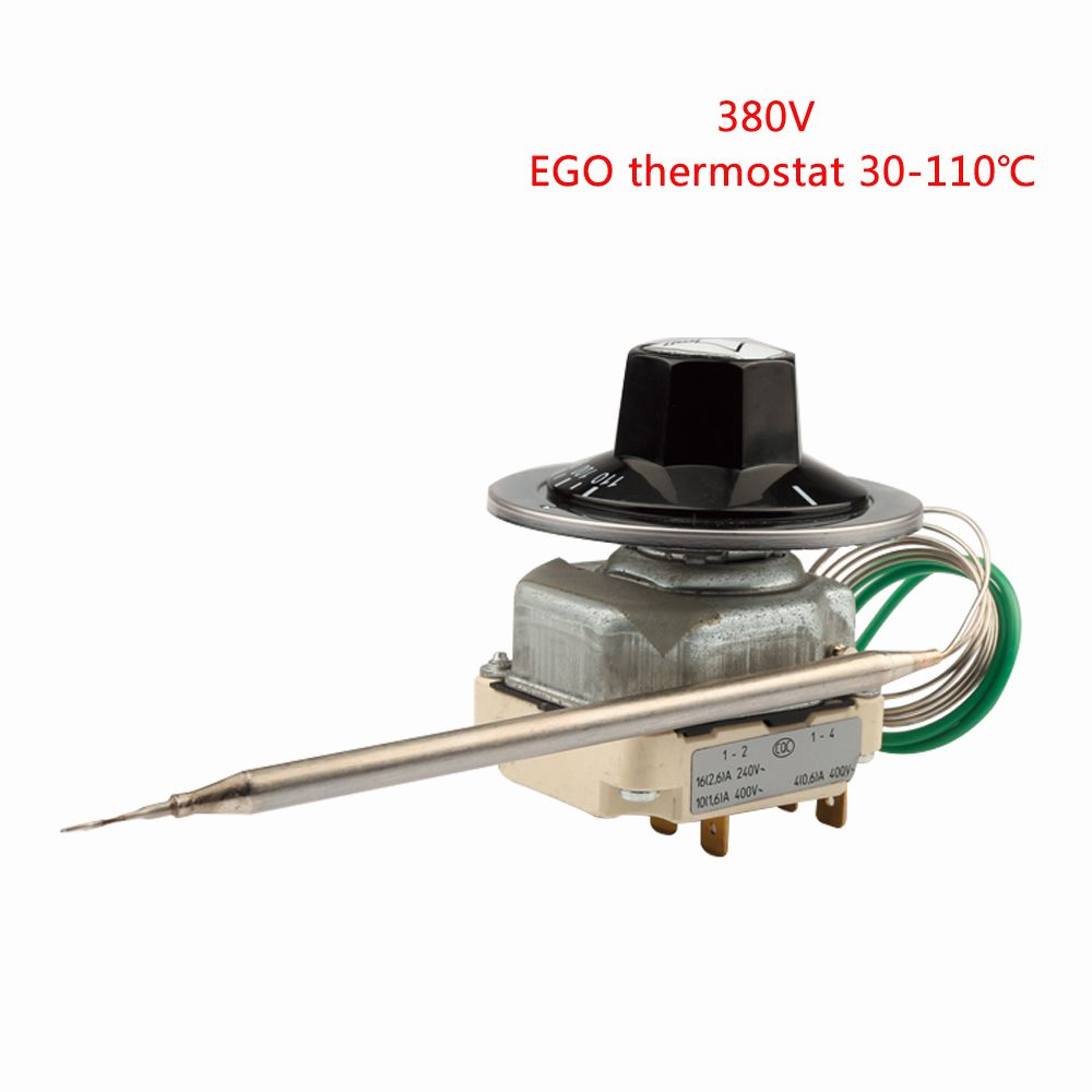 55.34022.170 EGO Temperaturregler 6 Pins Capillary Thermostat 30-110 Degrees Celsius 380-400V  Over Temperature Protective
