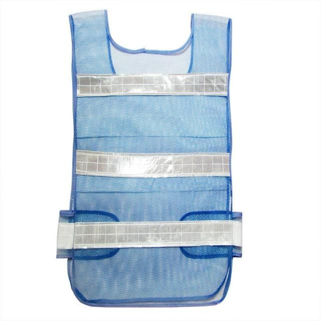 Classic Style Mesh Cloth Reflective Vest Warning Reflective Safety Vest Blue Work Wear Uniforms Clothing Size 56*50cm