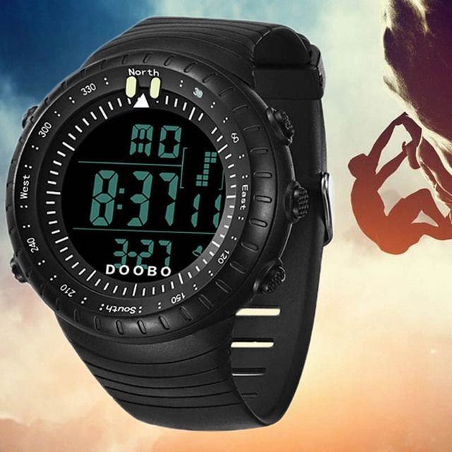 2016 New LED Digital Mens Military Watch Men Sports Watches 5ATM Swim Climbing Fashion Outdoor Casual Men Wristwatches
