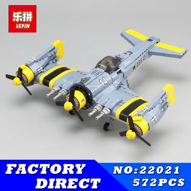 LEPIN 22021 572Pcs Technical Series The Beautiful Science Fiction Fighting Aircraft Set Building Blocks Bricks Toys Model Gift