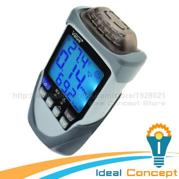 Lightweight Formaldehyde Monitor Environmental Friendly Gas Detector with With  Display Backlight