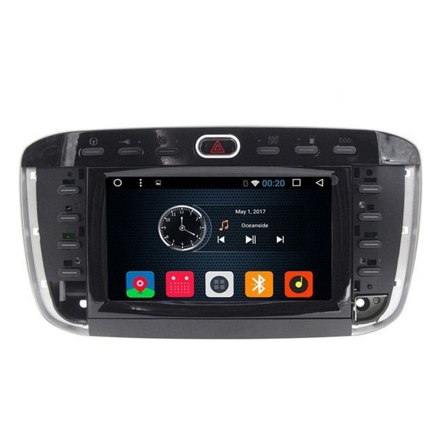 "Android 6.0 6.2"" Touch Screen Car DVD Player GPS Navigation For Fiat punto evo Linea 2012 2013 Radio RDS AM FM USB SD Ipod"