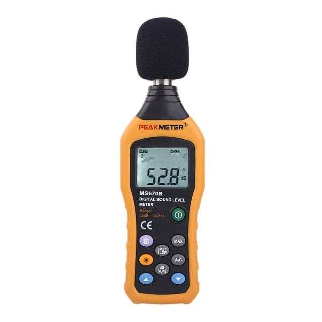 CSS PEAKMETER MS6708 Digital Sound Level Meter Noise Monitor Measuring 30-130 dB LS