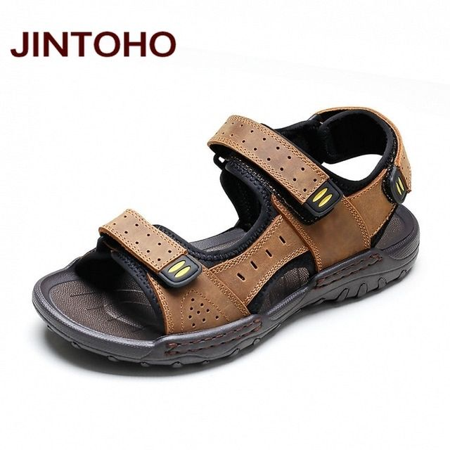 JINTOHO Fashion Men Sandals Summer Beach Shoes Summer Men Water Shoes Aqua Sandals Shoes Fashion Casual Male Sandals
