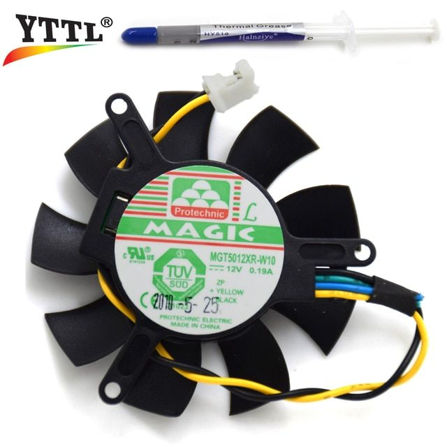 Original Protechnic 45MM MGT5012XR-W10 12V 0.19A 2Pin 4Pin MAGIC Graphics Card Cooling Fan