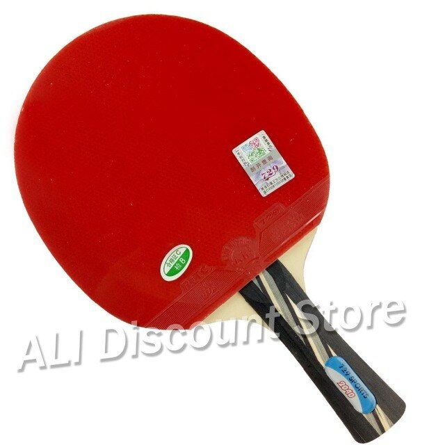 RITC 729 Friendship 2040# Pips-In Table Tennis Racket with Case for PingPong Shakehand long handle FL