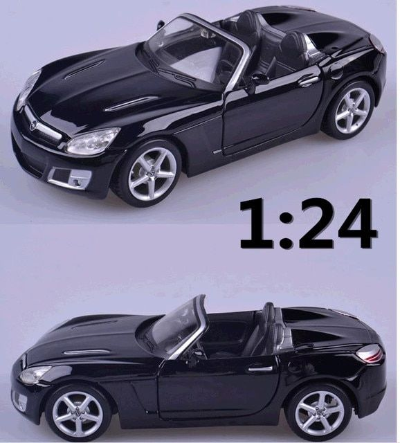 1:24 alloy car,high simulation model cars 2008 Opel GT Cabriolet, metal diecasts, coasting,toy vehicles, free shipping