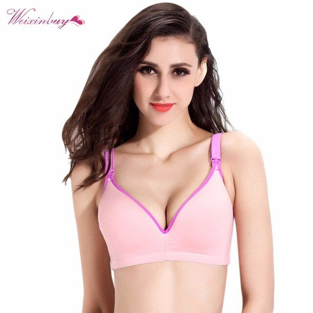 34-40 B C Cup Fashion Pregnant Underwire Nursing Maternity Breastfeeding Wide Straps Bra