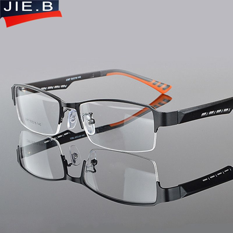 JIE.B Optical Eyeglasses Frame Women Men Computer Glasses Spectacle Half Frame For Women's Transparent Female Male Oculos