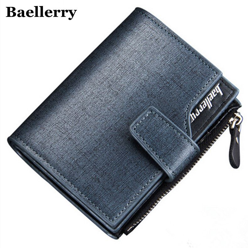 Men Wallet Top quality male purse wallet men short trifold Men Purses Microfiber Leather Wallets Card Holder Coin Pocket For man