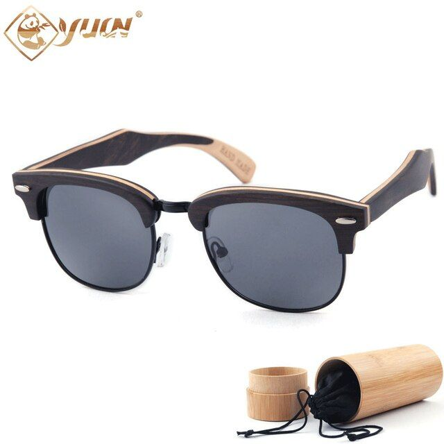 New 2017 Sunglasses Men/Women Brand Designer Glasses Handcrafted Skateboard Sun Glasses Eyewear Eyeglasses Wood Sunglasses W3036