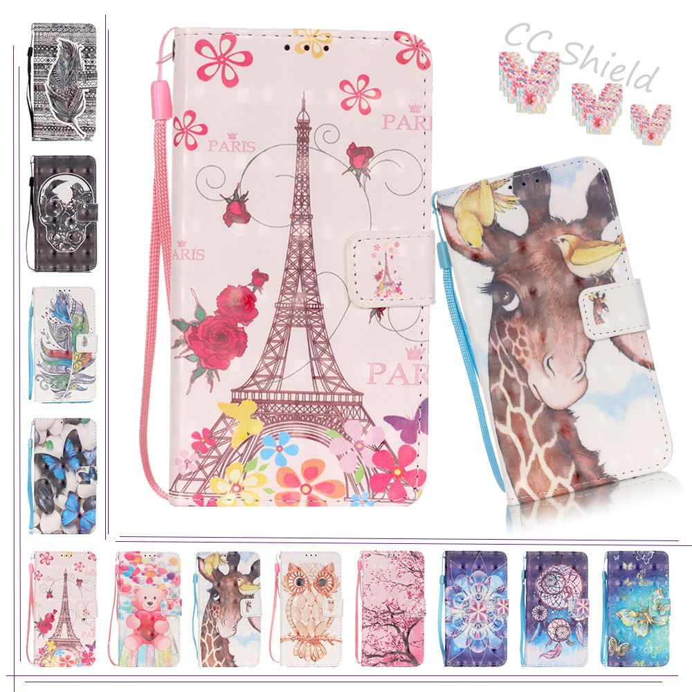 3D Painting Magmetic Flip Case for LG K5 LGK5 X220 ds mb g X220ds X220mb Case Phone Leather Cover for LG K 5 LGK5  X220g cases