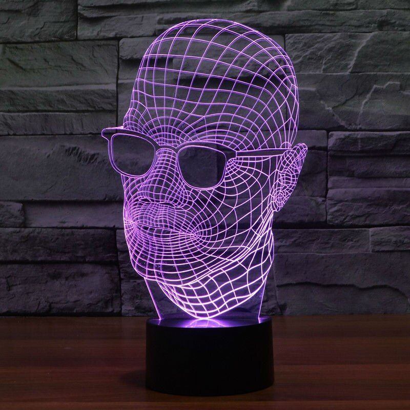 Crute Face 3D Visual LED Night Lights for Kid Switch Light USB Charger Table Lamps as Besides Lamp Baby Sleeping Night lights