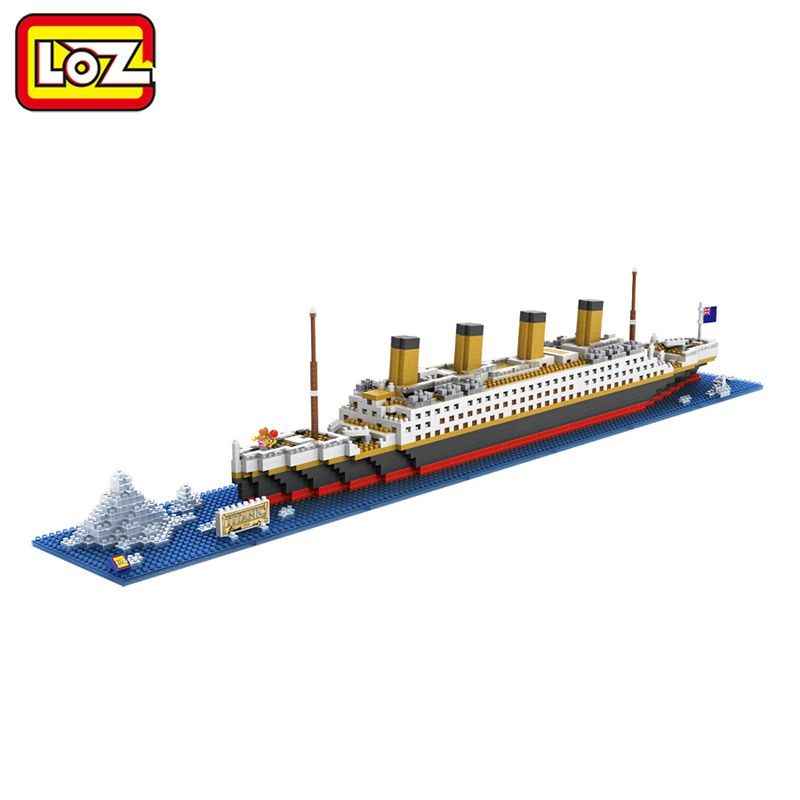 LOZ RMS Titanic Ship 3D Building Blocks Toy Titanic Boat 3D Model Educational Gift Toy for Children