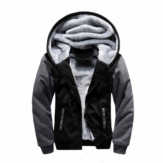 New Fashion Men Sweatshirt Winter Thick Hoodies Cotton Hoodie Coats Tracksuit Men Fleece Cardigans Mens Sweatshirts 4XL 5XL