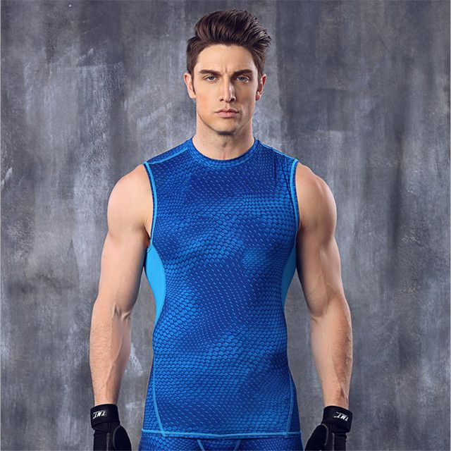 2016 men Gym T-Shirt Debardeur Sans Manches Shirt Crossfit shirt Sport Outfit  U Top Marque Vetements male fitness t shirts men