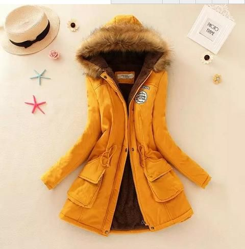 Coat 2019 Womens Parka Coats Winter Hooded Long Jacket plus size snow wear coat large fur thickening outerwear  8860