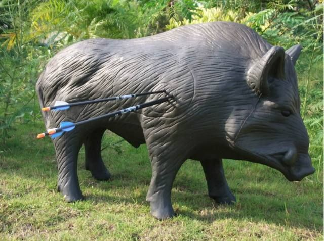 New 3D 86*54*33cm archery ferocious wild pig boar shooting archery target arrow for Garden Decoration,made of XPE+PU mateial