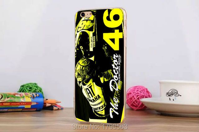 hot valentino rossi vr46 -6 Soft Silicon clear Transparent TPU Skin case for iphone6 6S i7(4.7inch) and i6Splus i7plus(5.5inch)