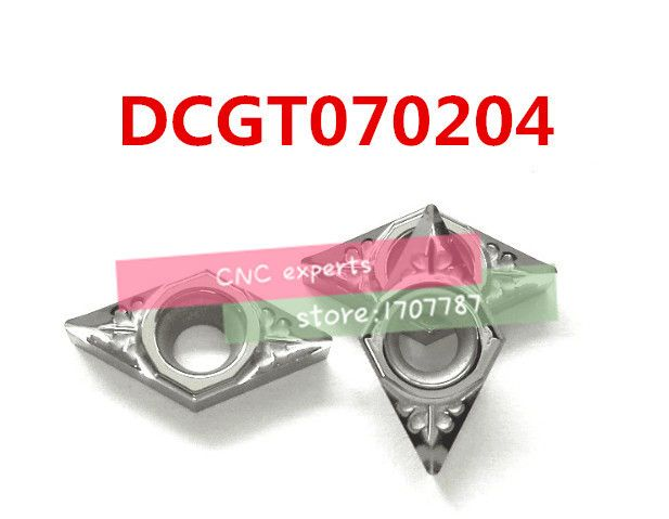 Free shipping  aluminum carbide insert DCGT070204, CNC lathe tool, suitable for aluminum processing, insert SDFCR/SDJCR