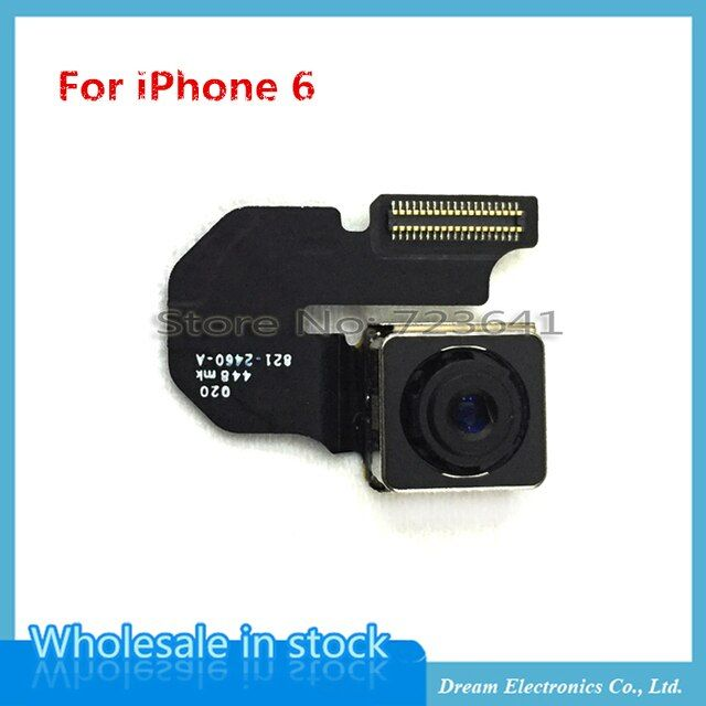 MXHOBIC 10pcs/lot 8MP Rear Facing Back Camera Flex Cable For iPhone 6 6G 4.7 Inch Replacement parts Free Shipping