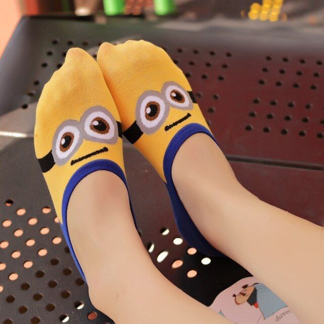 3D Minion  Cartoon Characters Cotton Cute Summer  Minions Sock Cute Cartoon Emoji  Fashion   women socks