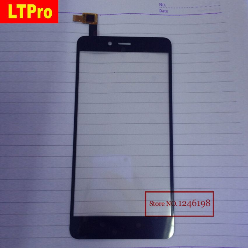 LTPro Black TOP Quality Front Panel Glass Sensor Touch Screen Digitizer For Xiaomi Hongmi Note 2 Redmi Note2 Mobile Parts