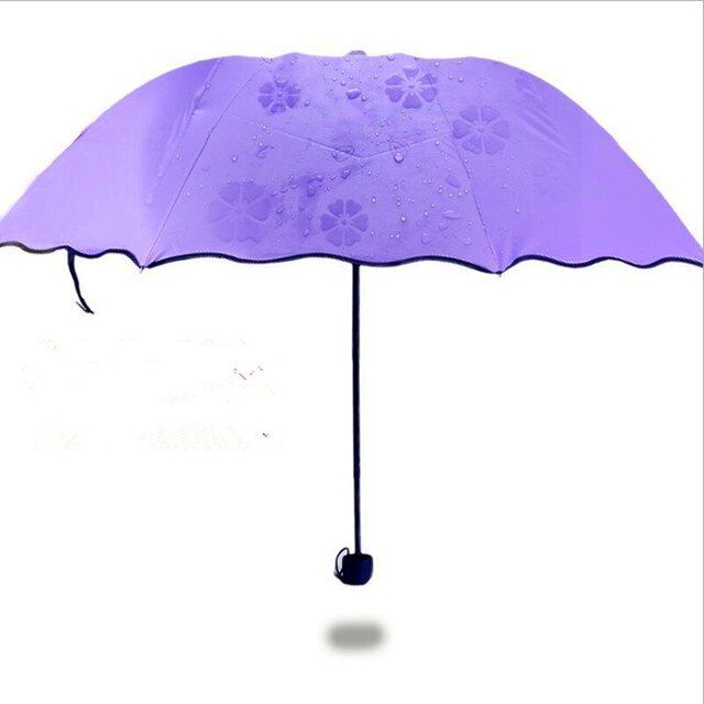 Home Garden Household Merchandises Rain Gear 2016 strong Frame Three Folding compact big rain umbrella