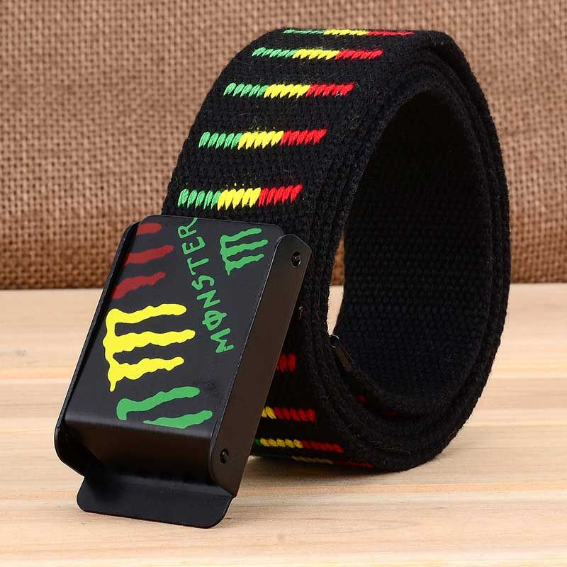 Canvas  Belt for Men And Women Young Hipster Men Belt Canvas Woven Automatic ladies  Belts For Jeans Designer Belts