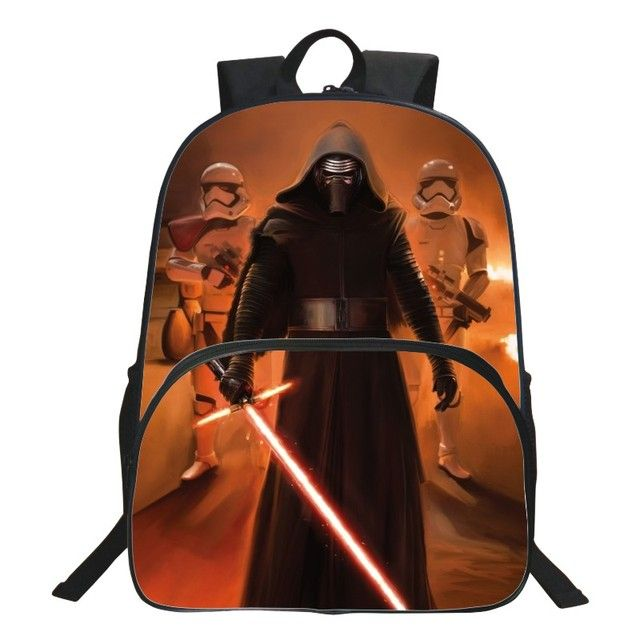 HENGFEI Brand Hot Sale 16 Inch Printing Hero Black Teenagers Book Bag High Quality  Kids Baby School Bags Boy Schoolbag Backpack