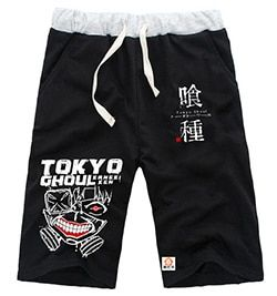 2015 new arrival Comic&Animation Tokyo Ghoul Jin Muyan summer cool fashion knee length unisex trousers casual lovers sweatpants