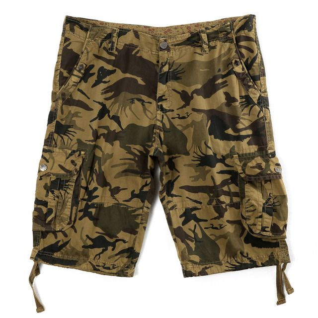 Cargo Shorts Men Camouflage Summer Hot Sale Cotton Casual Men Short Pants Clothing Loose Fashion Men Cargo Shorts R2