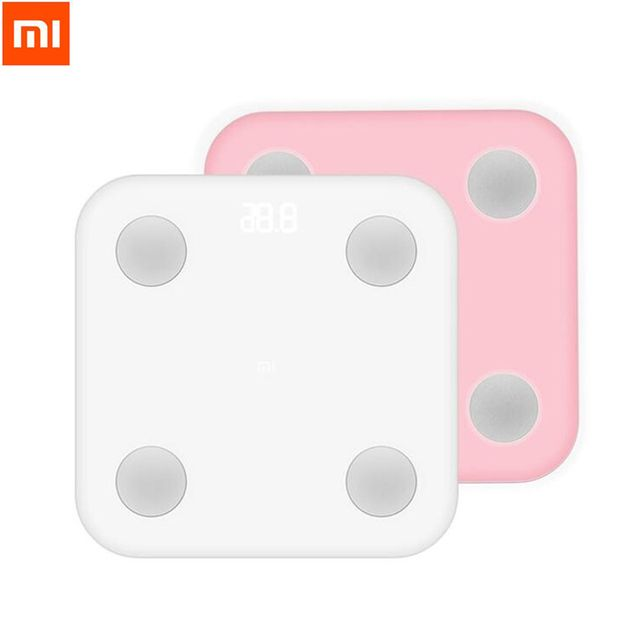 Xiaomi Mi Smart Body Fat Scale Mifit APP & Body Composition Monitor Hidden LED Display Big Feet Pad Weight loss Battery Include