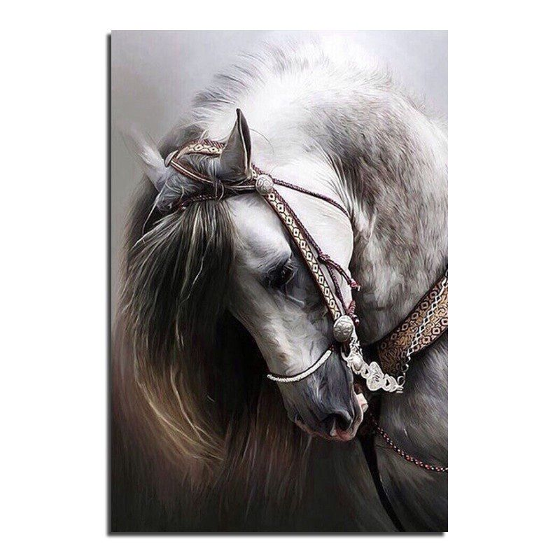 Hot Sale Horse Cross Stitch Printed Kits Draw a Diamond Picture Rhinestones Round Diamond Embroidery