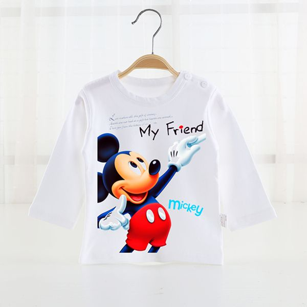 2016 Spring New Arrival Baby Girls boys Minnie mickey leisure sweater cartoon long sleeve T-shirt jerseys baby kids clothes